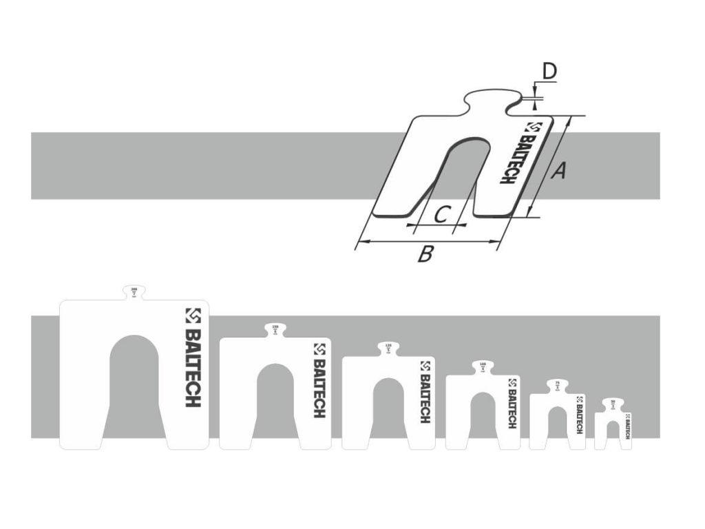 Калиброванные пластины для центровки BALTECH 23458N