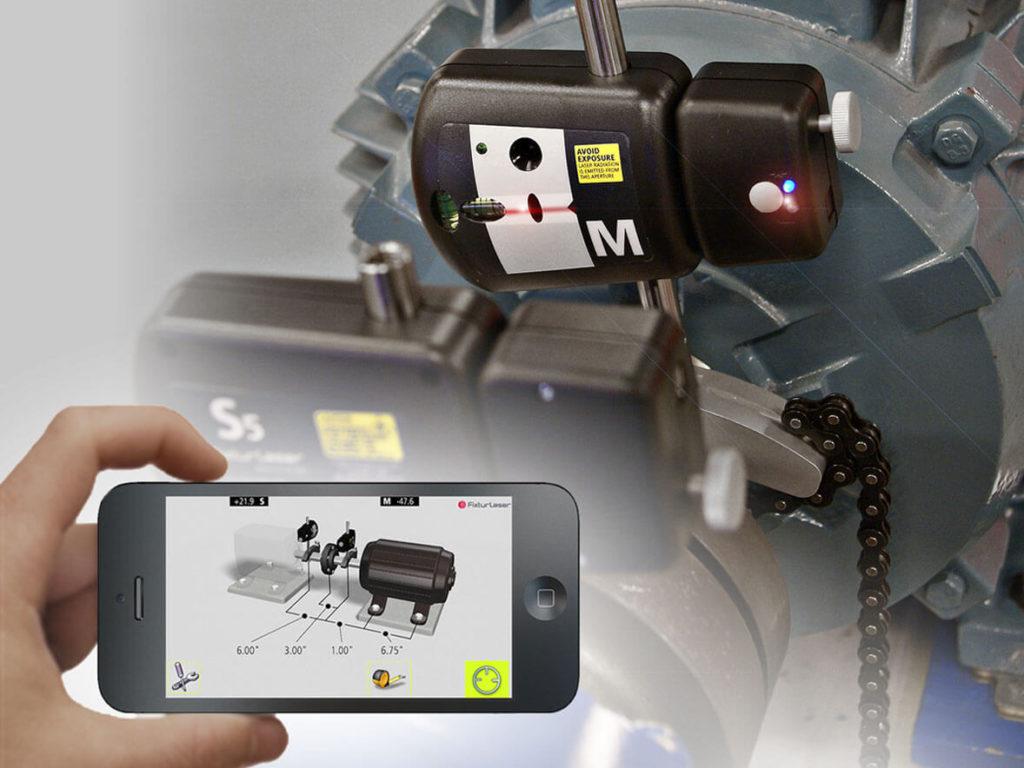 Система для центровки валов лазерная на базе планшетного компьютера Fixturlaser Laser Kit