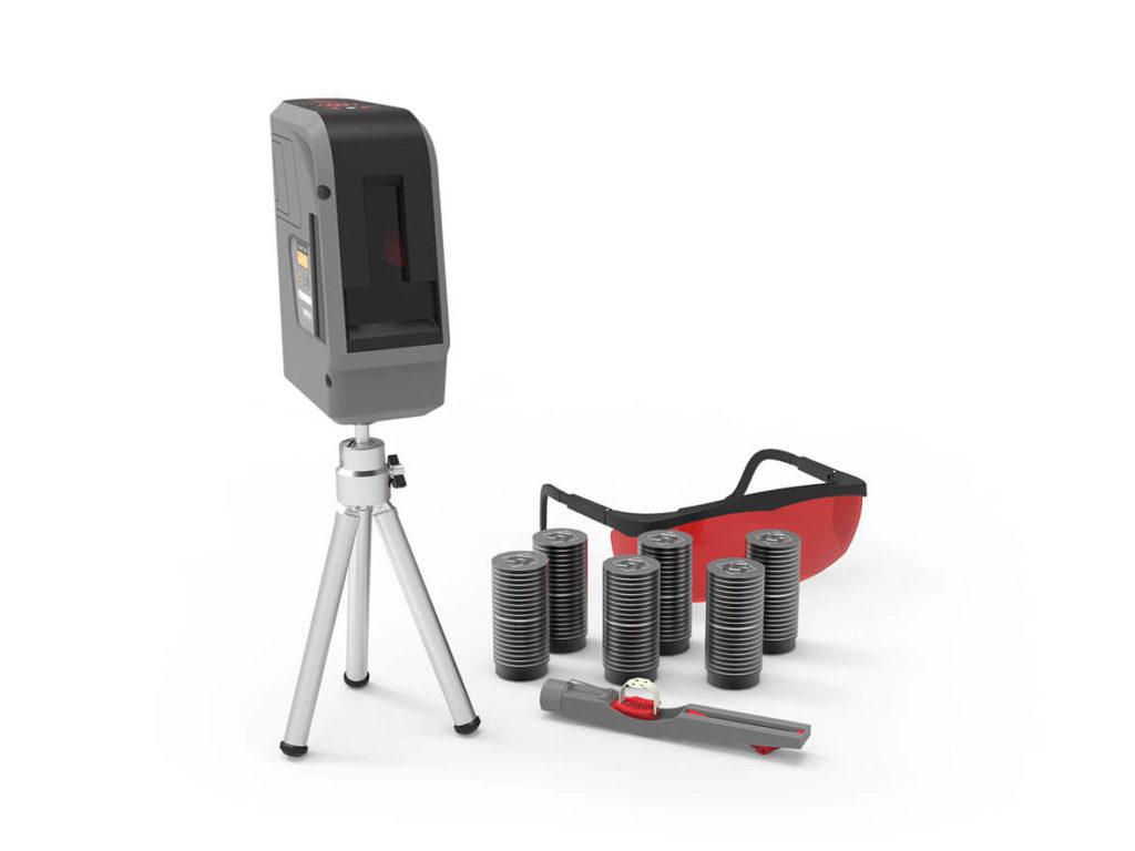 Система для центровки шкивов и проверки плоскостности лазерная КВАНТ-Шкив-II