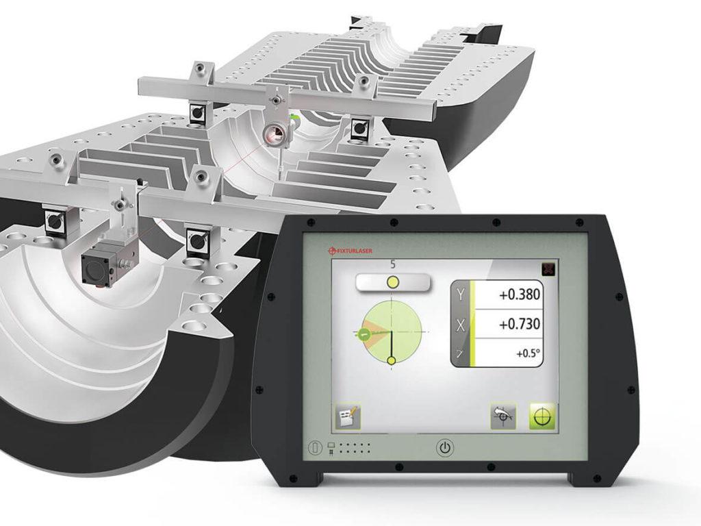 Комплект для выверки геометрии оборудования (плоскостность, прямолинейность, перпендикулярность) Fixturlaser NXA Geo